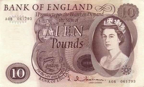 Otkup engleskih novčanica
