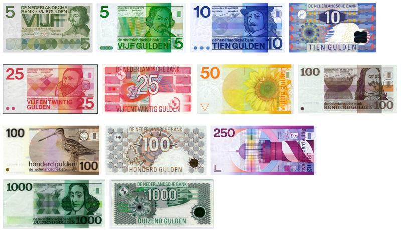 zamjena nizozemskih guldena