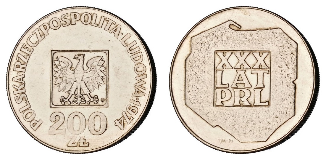 Poljska 200 zlota - 30. godina Republike - srebro