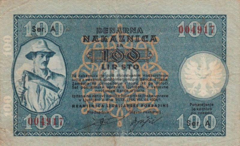 Otkup novčanica lira Hranilnice Ljubljanske pokrajine