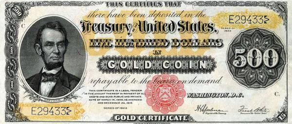 Otkup starih dolarskih Gold Certificate novčanica
