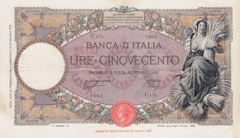 Otkup talijanskih novčanica iz razdoblja 2. svjetskog rata