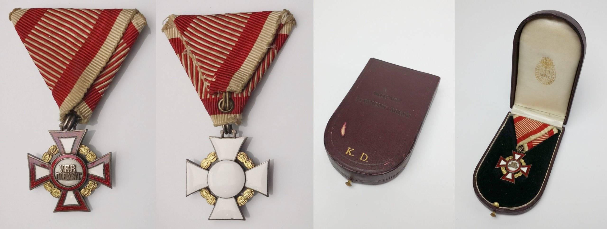 Otkup odlikovanja: Austrijsko odlikovanje Vojni križ za zasluge (Militärverdienstkreuz)