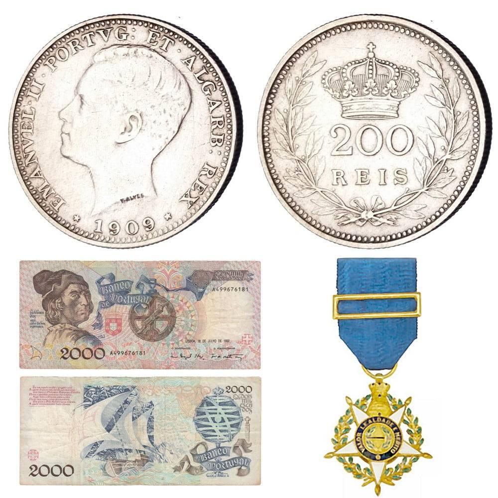 Otkup portugalskih kovanica, novčanica i odlikovanja