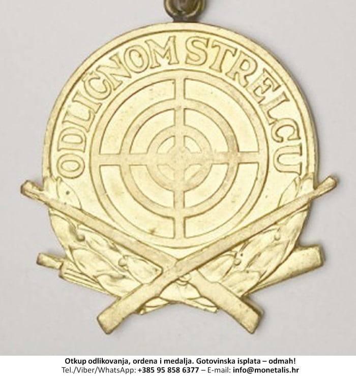 Otkupljujemo odlikovanje Medalja odličnom strijelcu - 095 858 6377