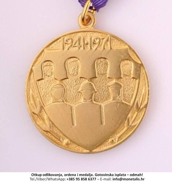 Otkupljujemo odlikovanje Medalja za 30 godina Jugoslavenske narodne armije - 095 858 6377