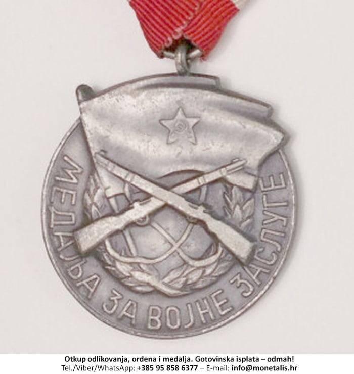 Otkupljujemo odlikovanje Medalja za vojne zasluge  - 095 858 6377