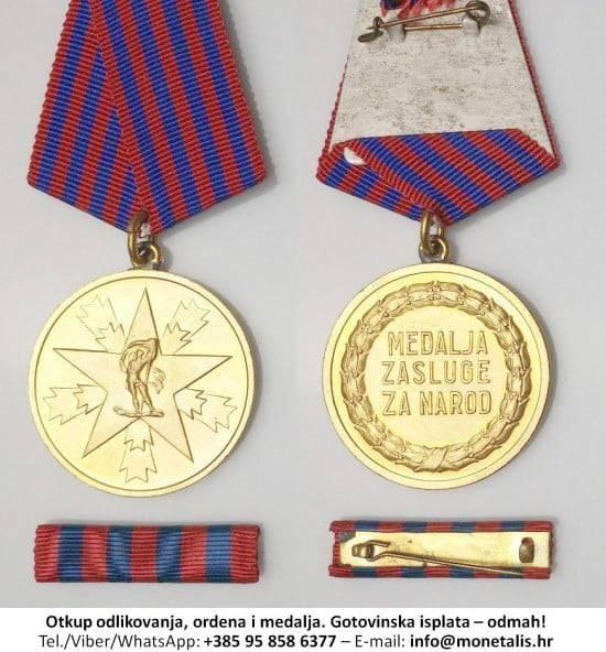 Medalja zasluga za narod - otkup