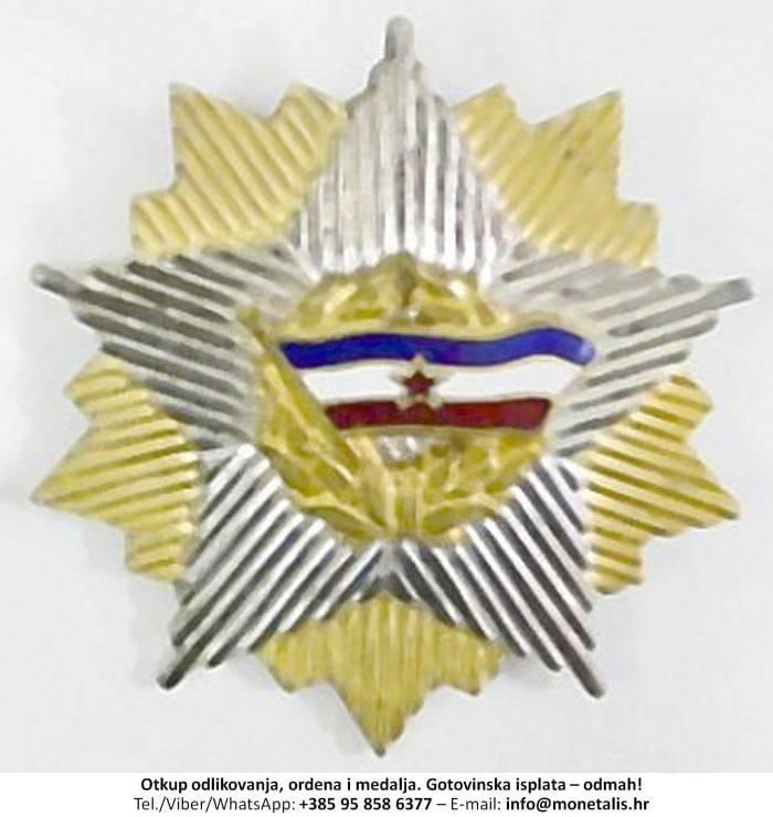 Otkupljujemo odlikovanje Orden jugoslavenske zastave sa zlatnim vijencem (II. red) - 095 858 6377