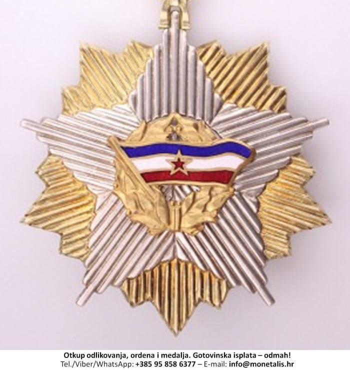 Otkupljujemo odlikovanje Orden jugoslavenske zastave sa zlatnom zvijezdom na ogrlici (III. red) - 095 858 6377