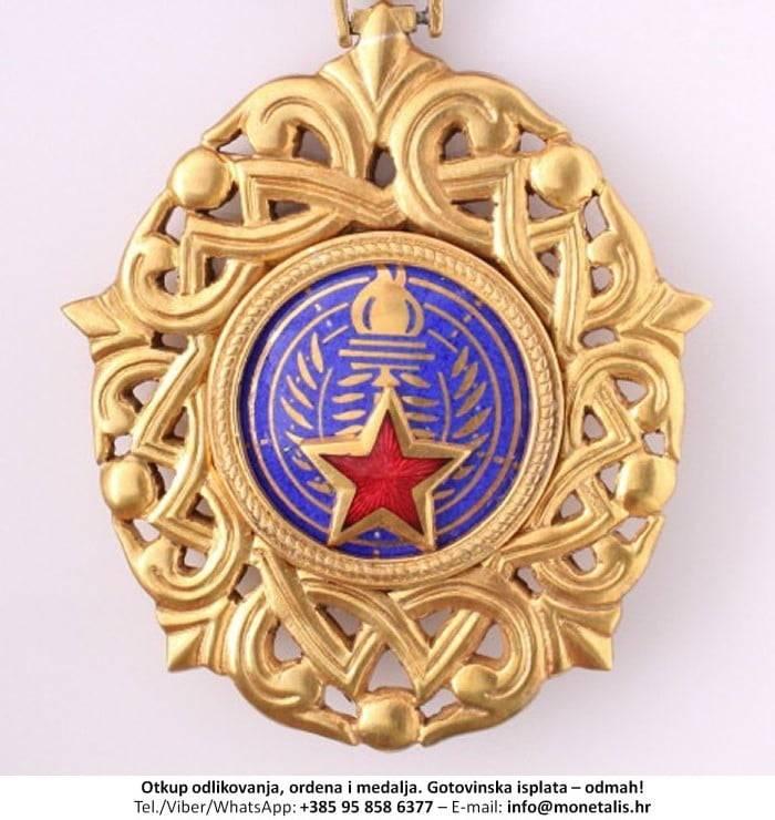 Otkupljujemo odlikovanje Orden jugoslavenske zvijezde na ogrlici (III. red) - 095 858 6377