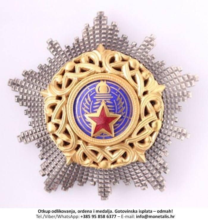 Otkupljujemo odlikovanje Orden jugoslavenske zvijezde s lentom (I. red) - 095 858 6377