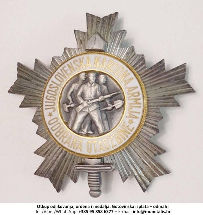 Otkupljujemo odlikovanje Orden narodne armije sa srebrnom zvijezdom (III. red) - 095 858 6377