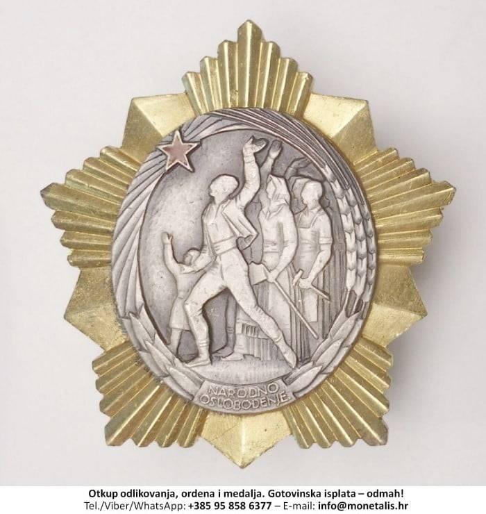 Otkupljujemo odlikovanje Orden narodnog oslobođenja  - 095 858 6377