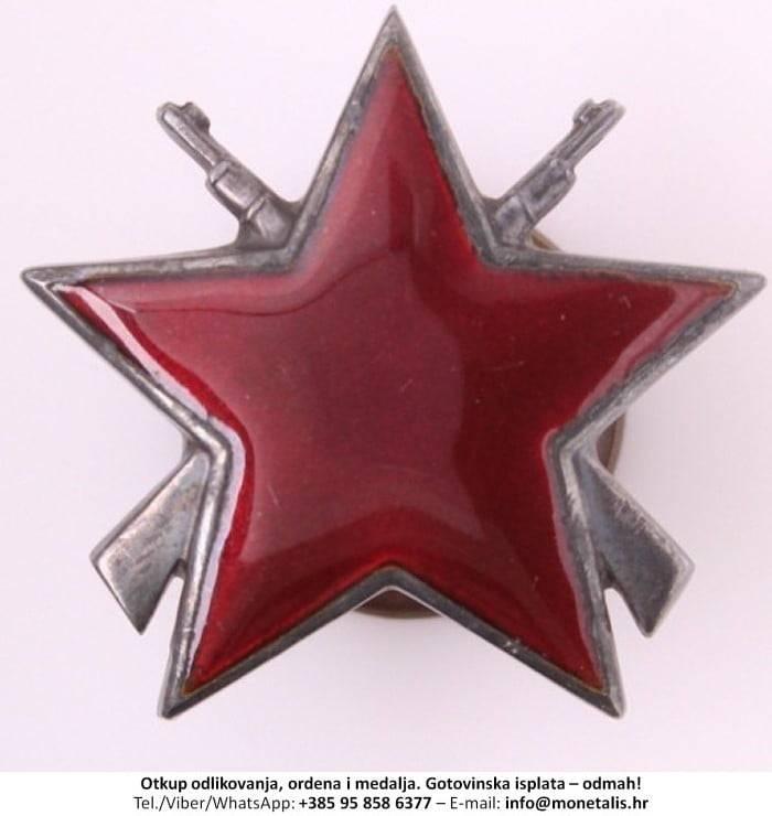 Otkupljujemo odlikovanje Orden partizanske zvijezde s puškama (III. red) - 095 858 6377