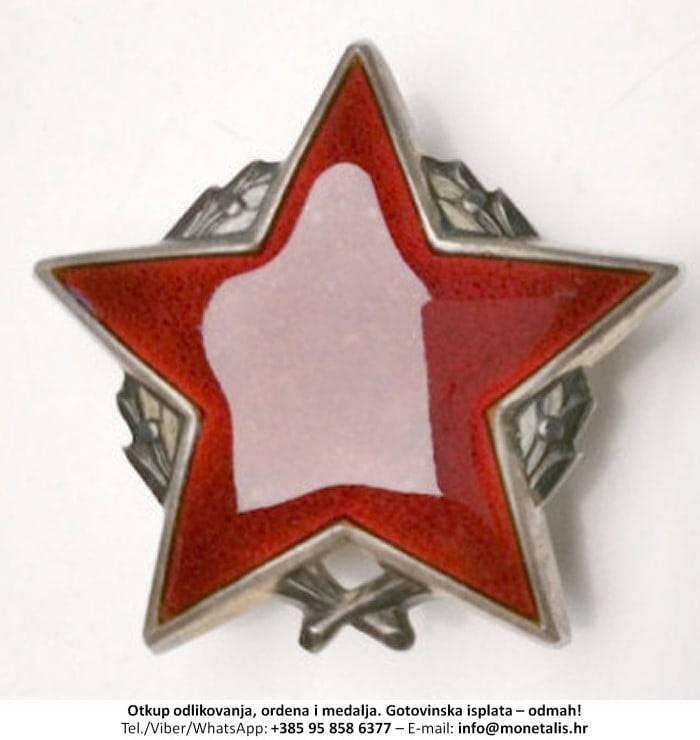 Otkupljujemo odlikovanje Orden partizanske zvijezde sa srebrnim vijencem (II. red) - 095 858 6377