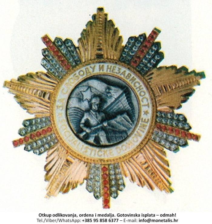Otkupljujemo odlikovanje Orden ratne zastave  - 095 858 6377