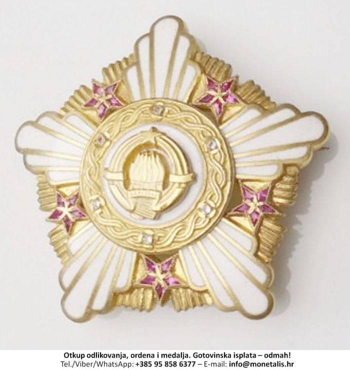 Otkupljujemo odlikovanje Orden Republike sa zlatnim vijencem (I. red) - 095 858 6377