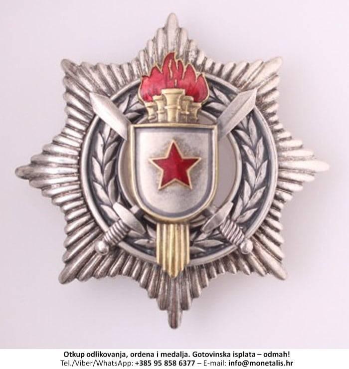Otkupljujemo odlikovanje Orden za vojne zasluge sa srebrnim mačevima (III. red) - 095 858 6377