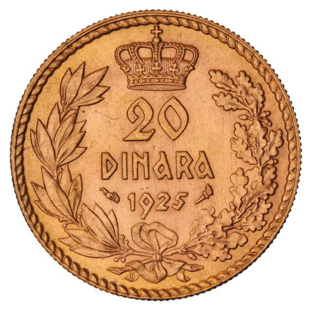Otkup zlatnika: Kraljevina Srba, Hrvata i Slovenaca 20 dinara 1925. Aleksandar I.