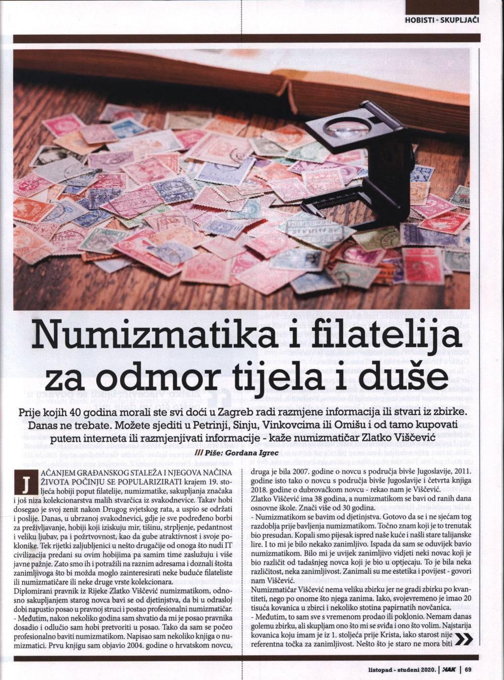 Numizmatika i filatelija - Revija HAK (1)