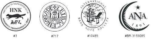 Članstva u numizmatičkim organizacijama